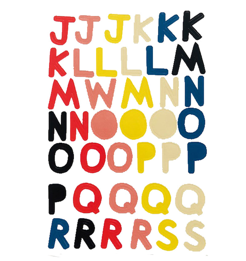 Multi-colored Alphabet Cardstock Stickers
