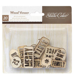 Wood Veneer Speech Bubbles Die Cuts