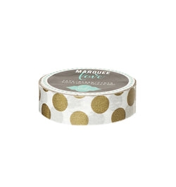 Gold Foil Polka Dot Washi Tape