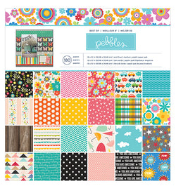 Best of Pebbles 12 X 12 Patterned Paper Pad 180pcs