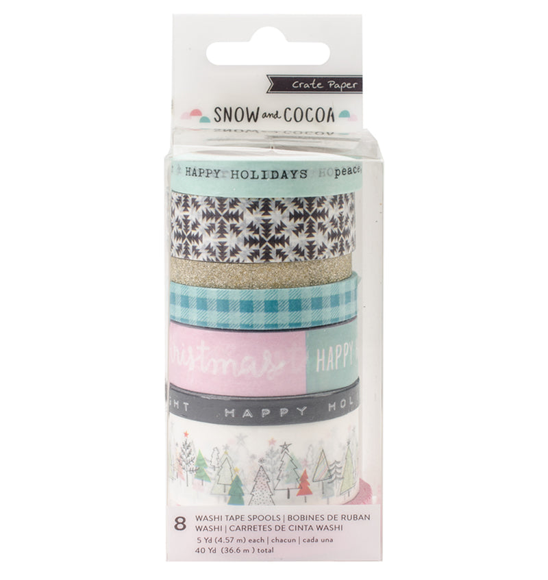 Snow and Cocoa Collection Washi Tape 8Rolls