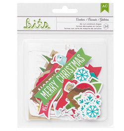 Be Merry Christmas Ephemera 34pcs