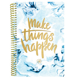 Bloom Make It Happen Daily Softcover Planner Undated Front Cover Design at Craftforher