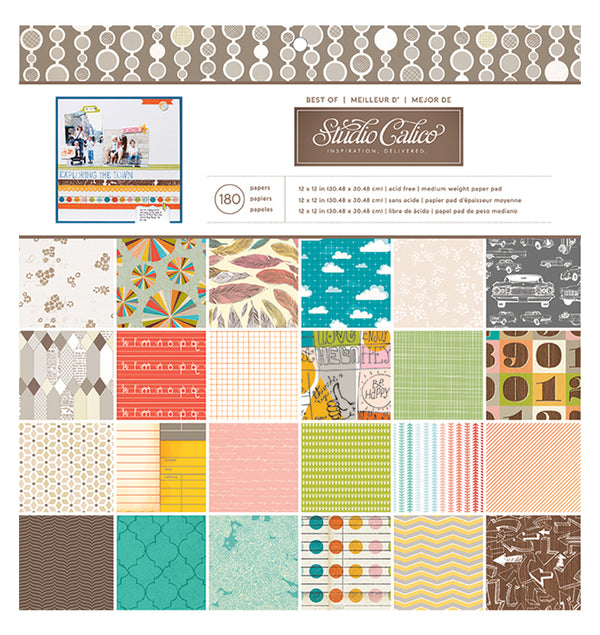 Best Of Studio Calico 12 x 12 Patterned Paper Pad 180pcs