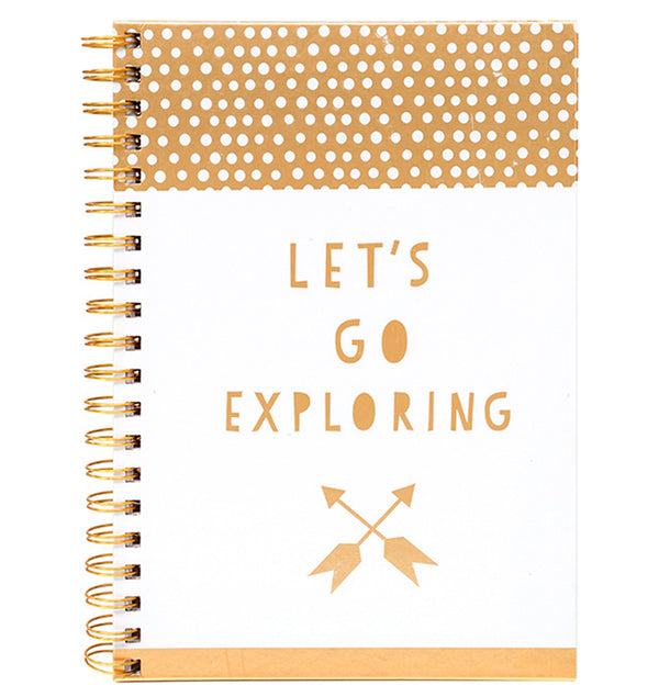"Let's Go Exploring Hardcover Journal (7.5""x10"")"