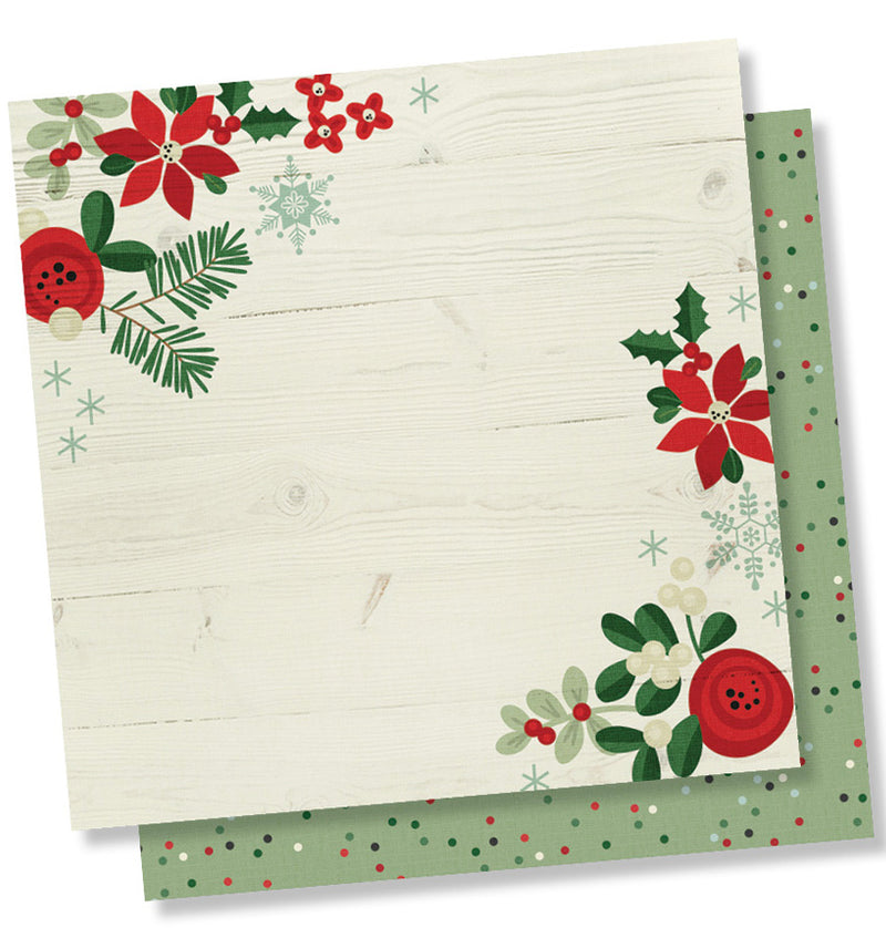 "Simple Stories Merry & Bright Collection Kit Holiday Memories 12"" x 12"" Double- Sided Cardstock Paper"