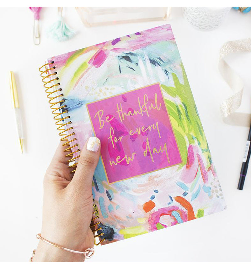 Holding a Bloom Thankful For Every New Day 2019 Soft Cover Daily Planner