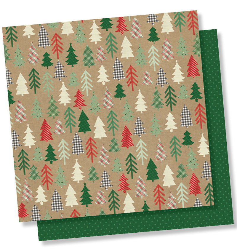 "Simple Stories Merry & Bright Collection Kit Hello December 12"" x 12"" Double- Sided Cardstock Paper"