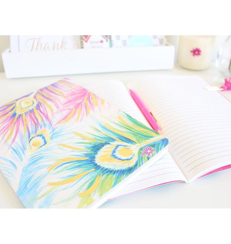 "Peacock Softcover Notebook (7"" x 10"")"