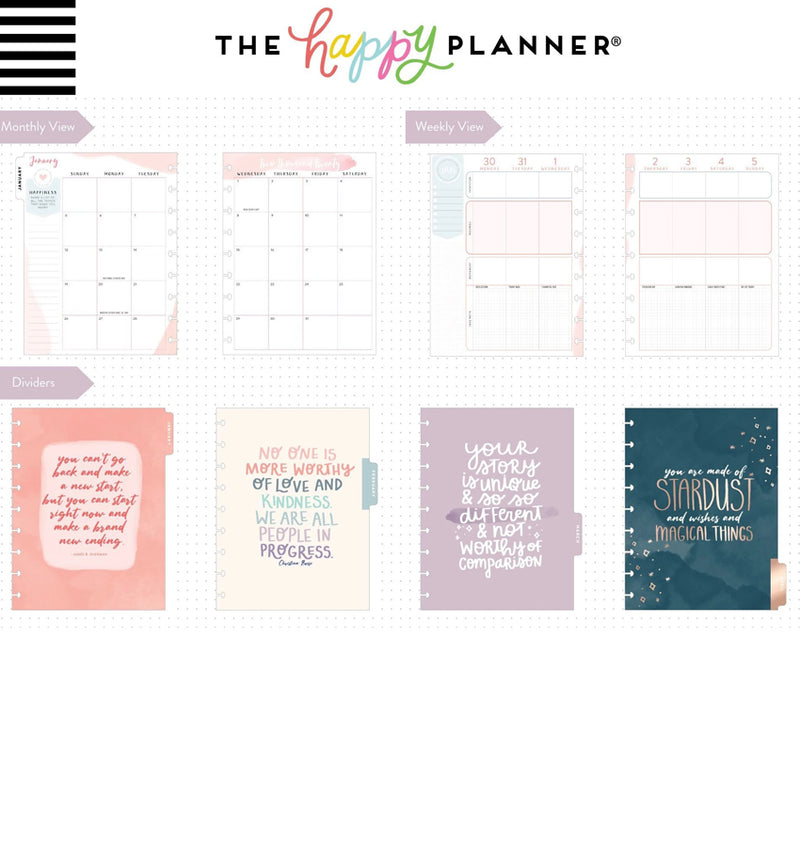 Be Well Wellness 2020 Classic Medium Happy Planner Page Layout