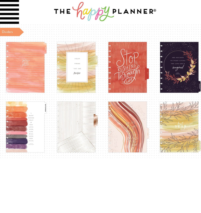Live With Heart 2020 Classic Medium Happy Planner Dividers