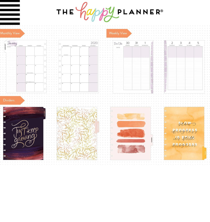 Live With Heart 2020 Classic Medium Happy Planner Page Layout