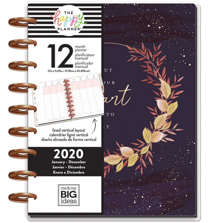 Live With Heart 2020 Classic Medium Happy Planner with Tab