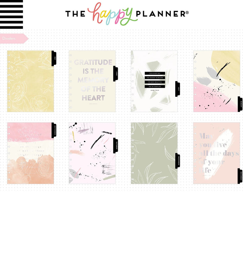 Painterly 2020 Classic Medium Happy Planner Dividers
