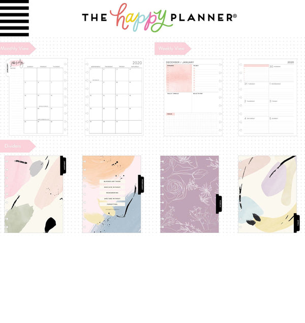 Painterly 2020 Classic Medium Happy Planner Page Layout