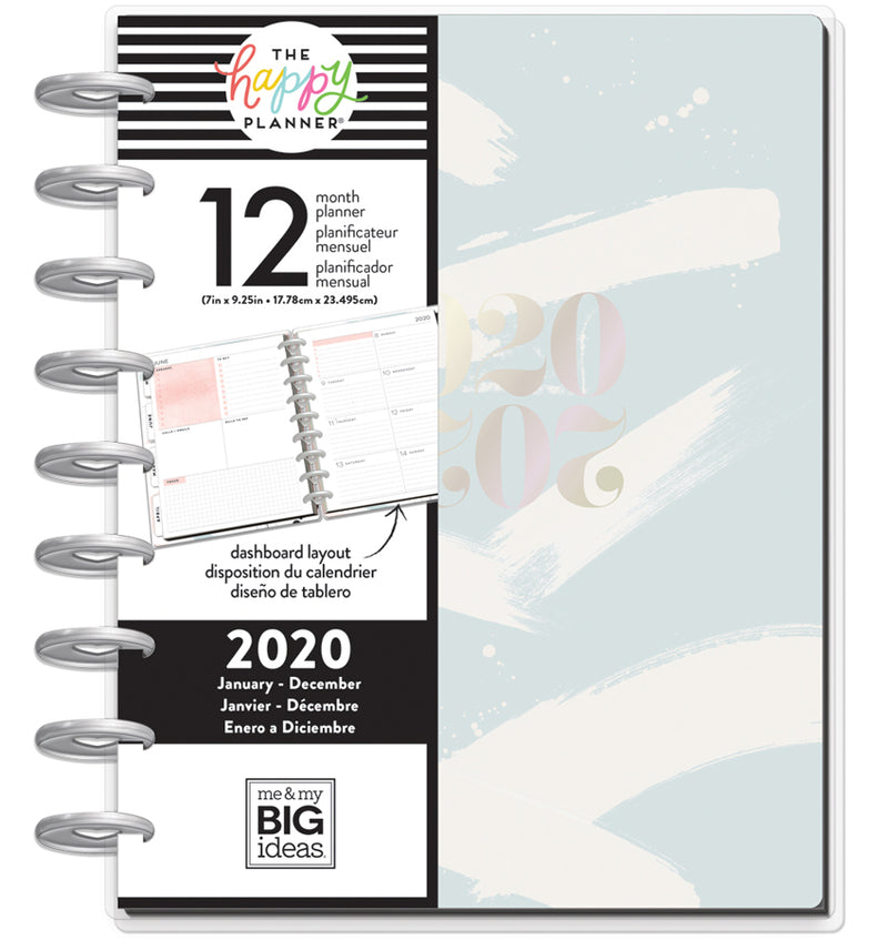 Painterly 2020 Classic Medium Happy Planner with Tab