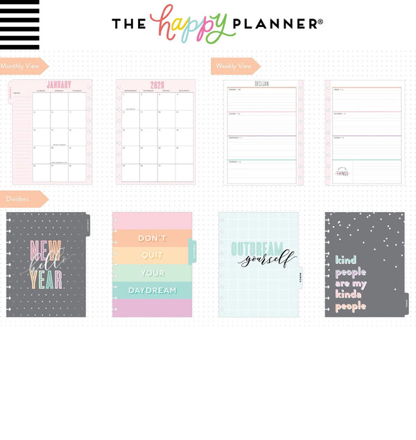Pastel Dreams 2020 Classic Medium Happy Planner Page Layout