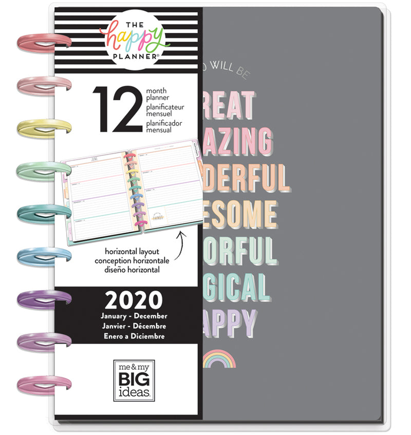 Pastel Dreams 2020 Classic Medium Happy Planner with Tab