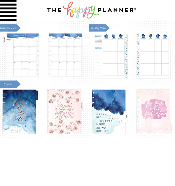 Year To Shine 2020 Classic Medium Happy Planner Page Layout
