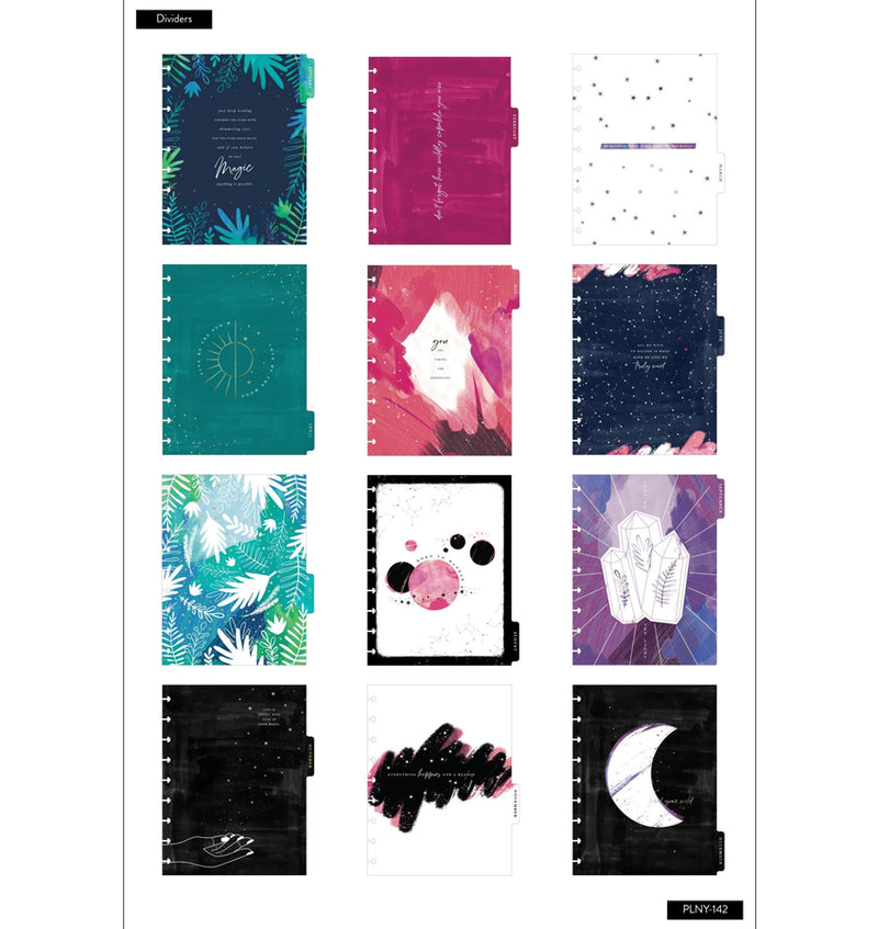 Dreaming Stargazer 2020 Deluxe Classic Medium Happy Planner Dividers