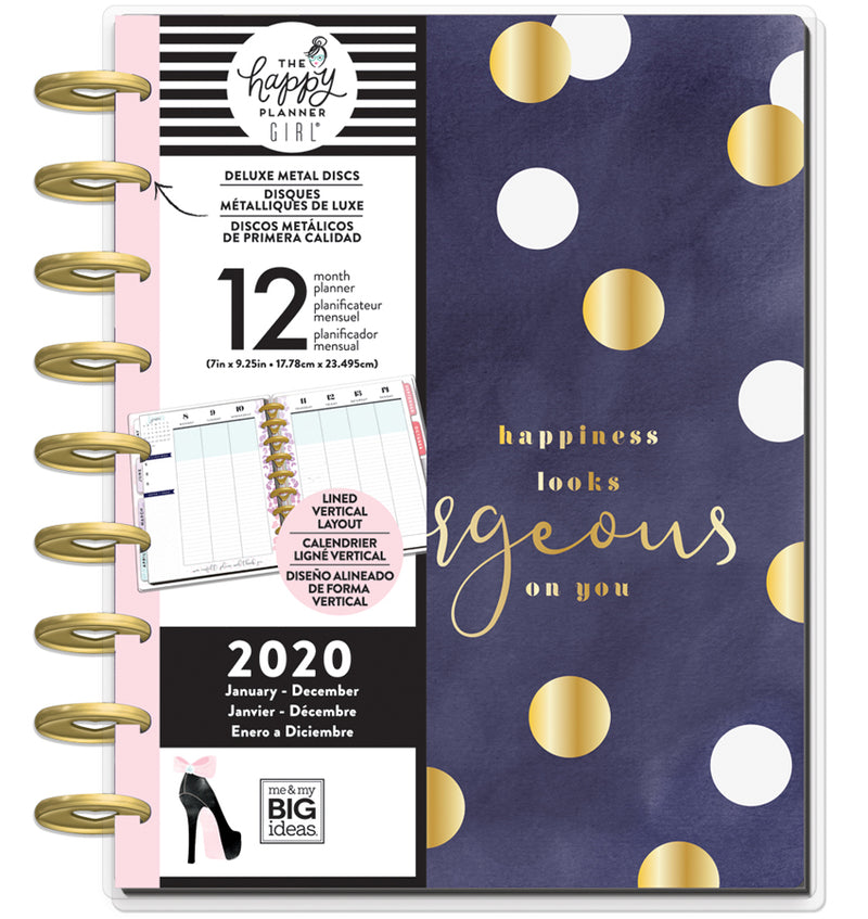 Gorgeous Glam Girl 2020 Deluxe Classic Happy Planner with Tab