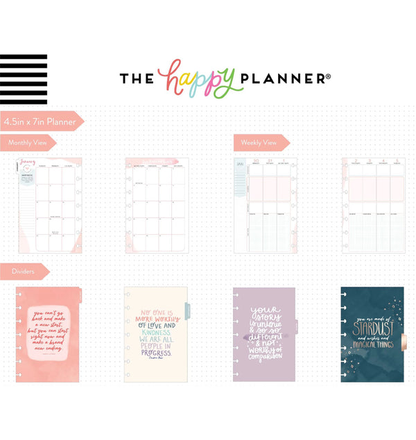 Be Well Wellness 2020 Mini Happy Planner Page Layout