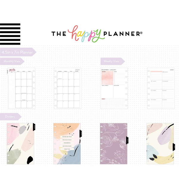 Painterly 2020 Mini Happy Planner Page Layout