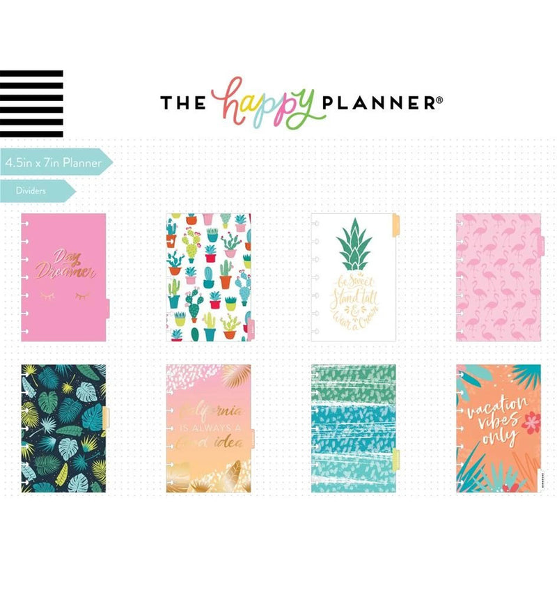 Vacation Vibes 2020 Mini Happy Planner Dividers