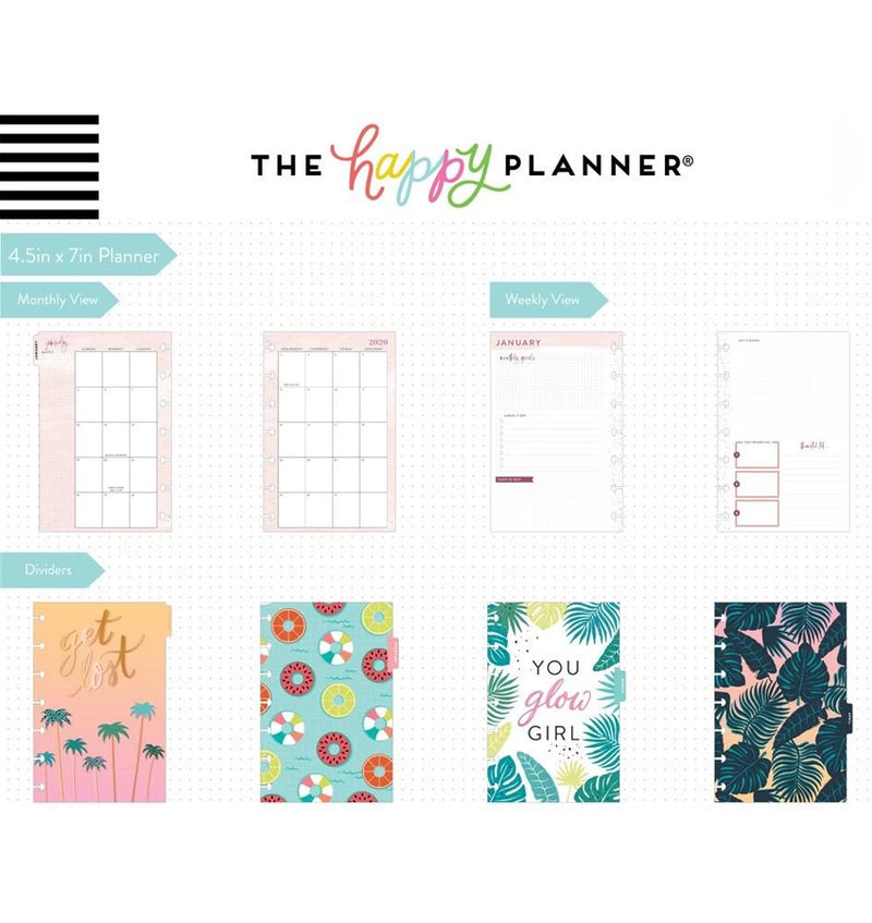 Vacation Vibes 2020 Mini Happy Planner Page Layout