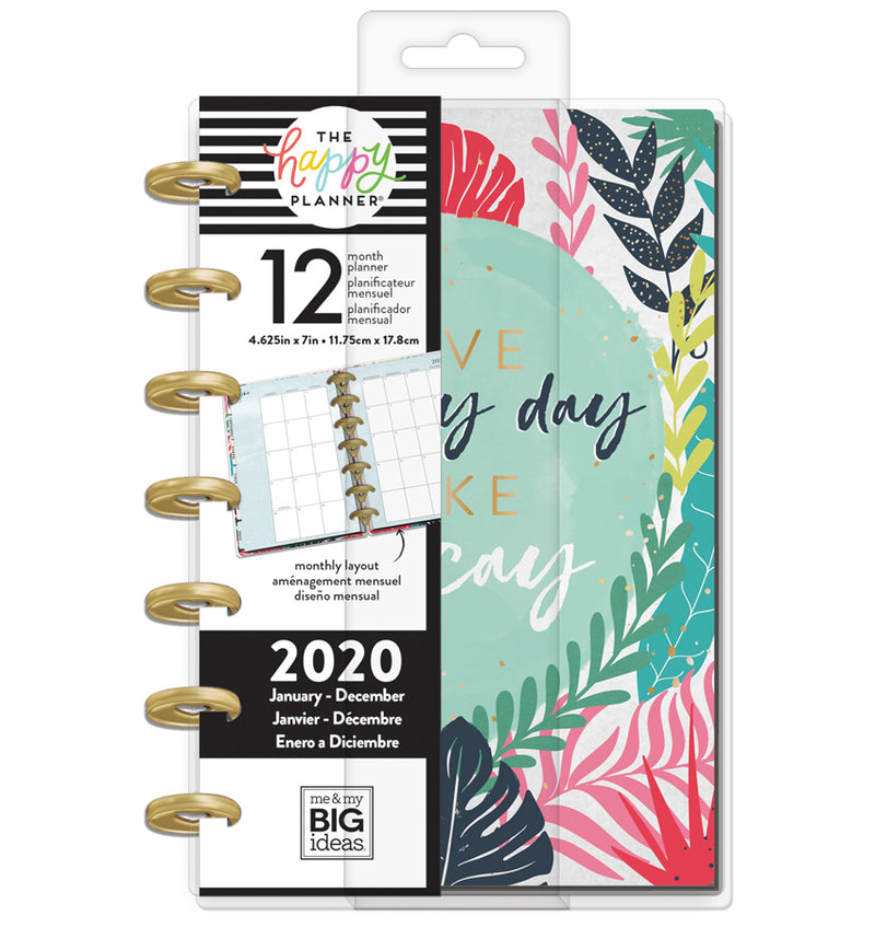 Vacation Vibes 2020 Mini Happy Planner with Tab