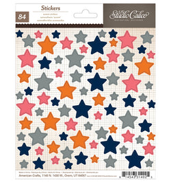 Colorful Star Stickers 84pcs
