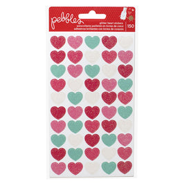 Glitter Heart Coloful Stickers 150pcs