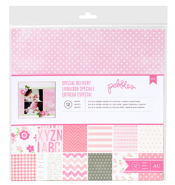 Special Delivery Girl 12 x 12 Paper Pad 12pcs