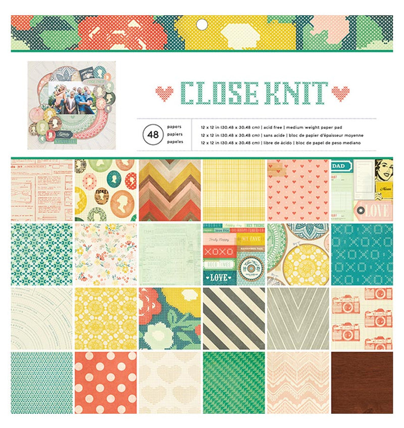 Close Knit 12 x 12 Paper Pad 48pcs