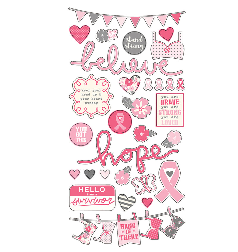 Hope 6 x 12 Fundamental Stickers