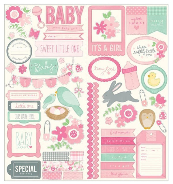 Special Delivery Girl Icon & Phrases Sticker