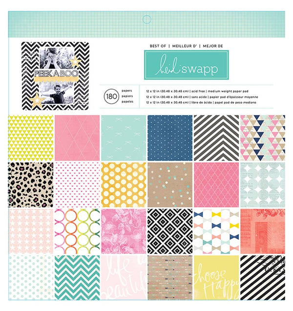 Best of Heidi Swapp 12 x 12 Paper Pad 180pcs