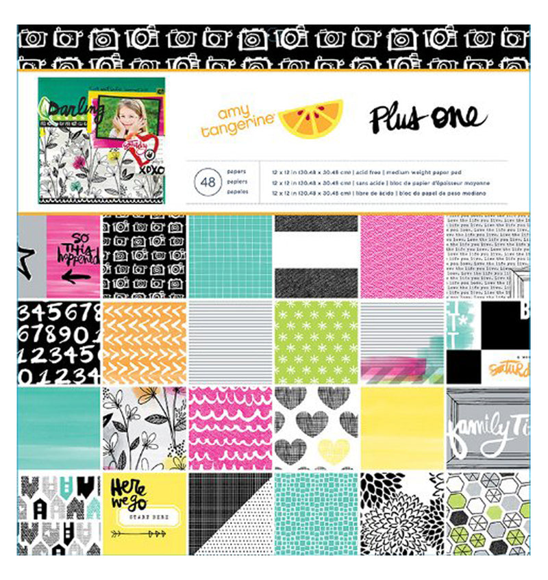 Amy Tangerine Plus One 12 x 12 Paper Pad 48pcs