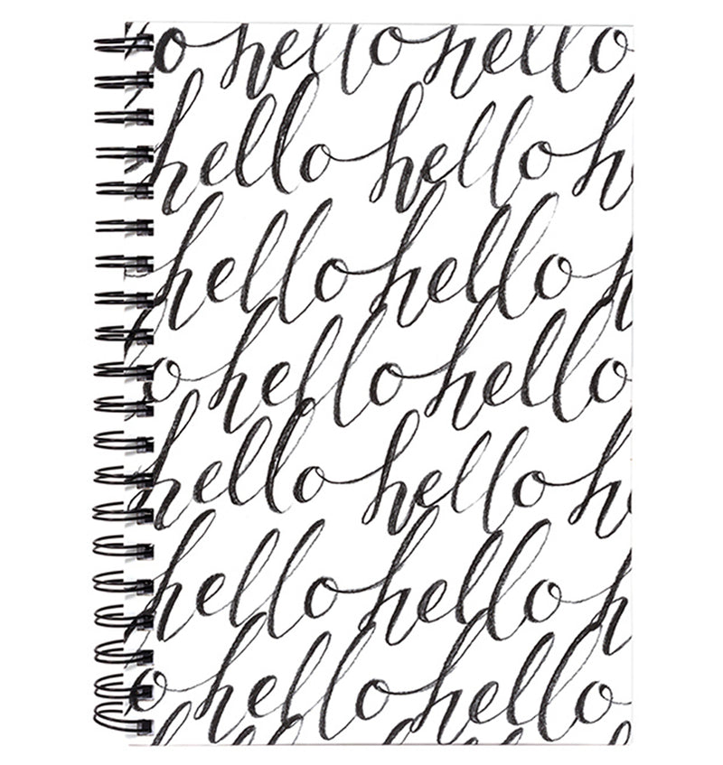 "Hello Hardcover Journal (7.5""x10"")"