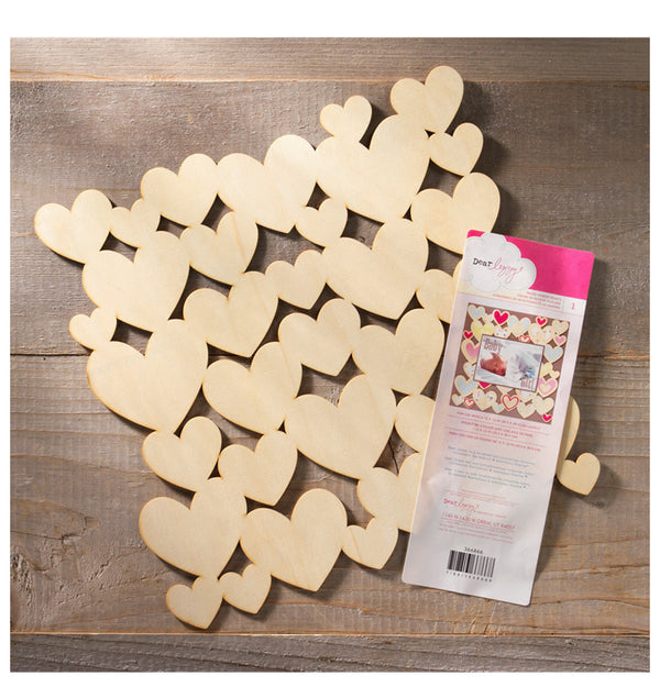Wood Veneer Hearts Die Cut 12 x 12