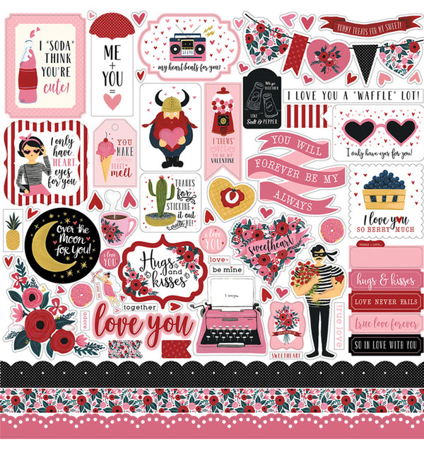 Hello Sweetheart Sticker Sheet