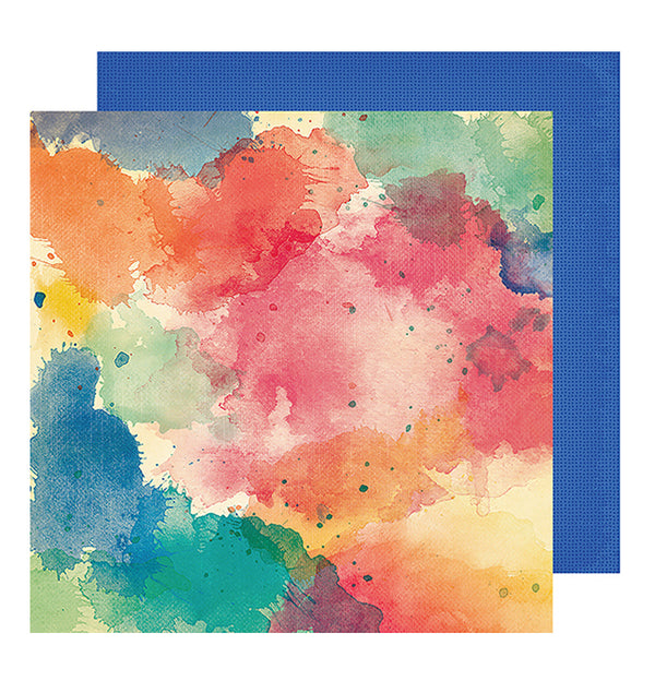 Paint Splash 12 x 12 Double Sided Paper