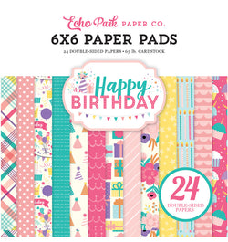 Happy Birthday Girl 6 x 6 Paper Pad