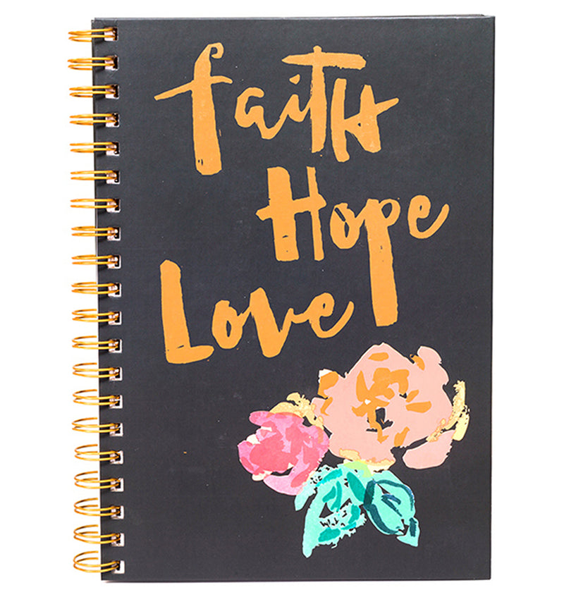 "Faith Hope Love Hardcover Journal (7.5""x10"")"