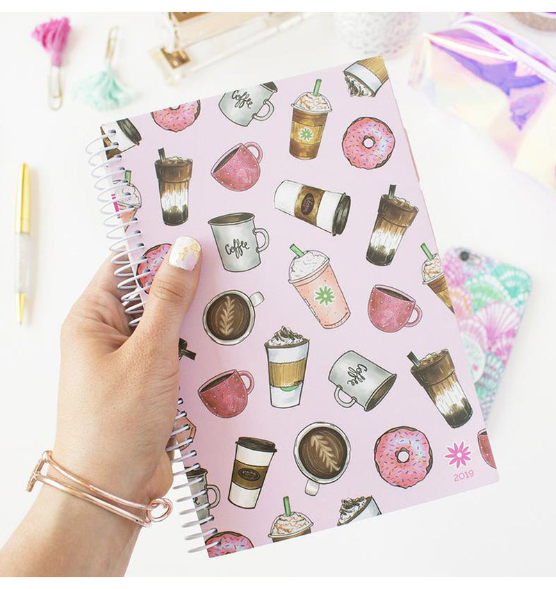 Holding a Bloom Coffee Lover 2019 Soft Cover Daily Planner