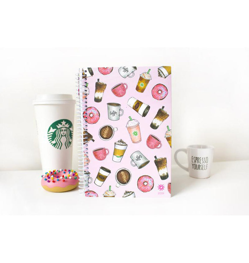 Bloom Coffee Lover 2019 Soft Cover Daily Planner Front View