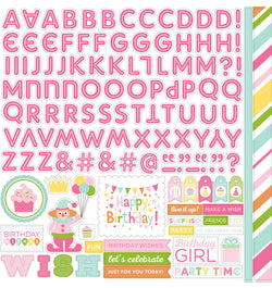 Birthday Wishes Girl Alpha Stickers