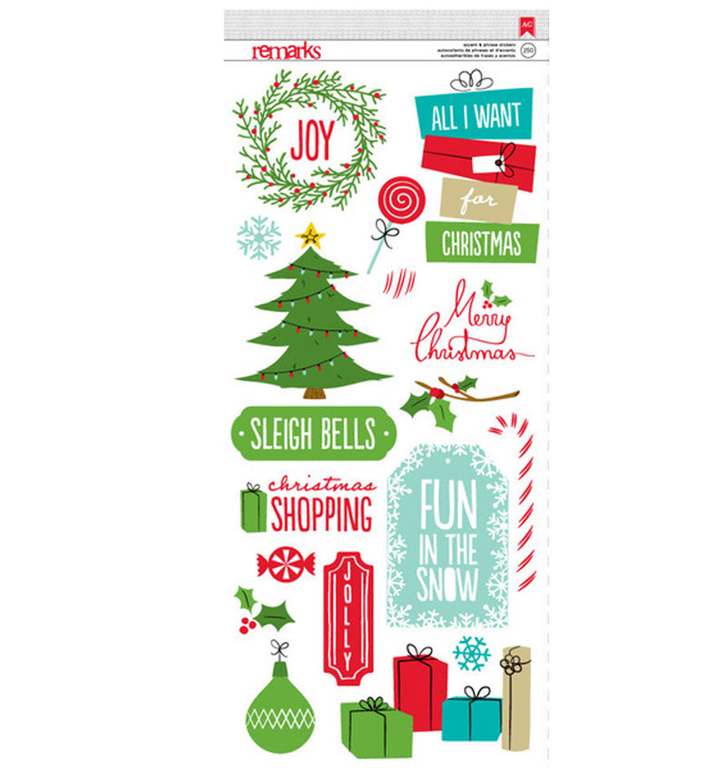Be Merry Christmas Stickers