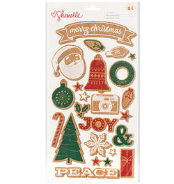 Christmas Magic Cork Stickers