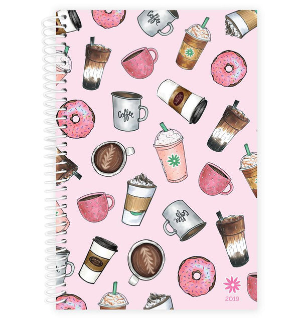 Bloom Coffee Lover 2019 Soft Cover Daily Planner Cover Design at Craftforher